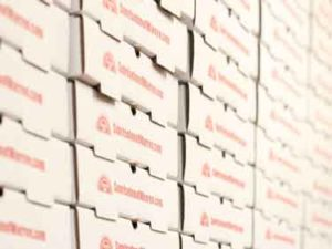SunriseInnOfWarren.com Pizza Boxes