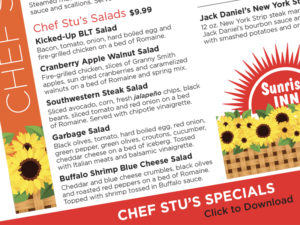 Chef Stu's Specials!